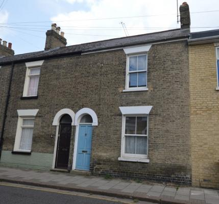 The  two-bedroom, mid-terrace house on Kingston Street, Cambridge, which sold for £428,000,