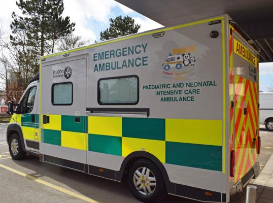 The Paediatric and Neonatal Decision and Support Retrieval (PaNDR) ambulance