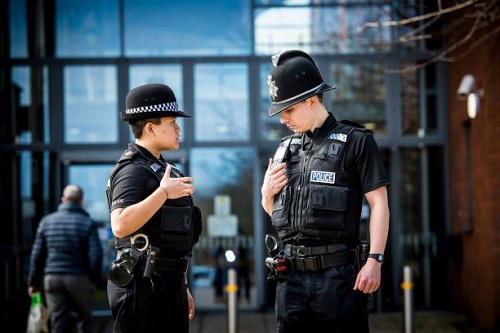 Sepura TETRA radios in use by Police officers on patrol
