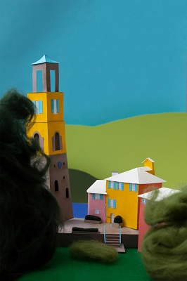 Abi's papercut picture of Portmeirion is a winning postcard