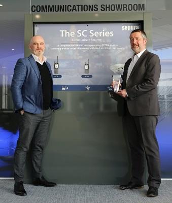 _Steve Barber and Joe McHugh with Sepura Large Business of the Year Award HR