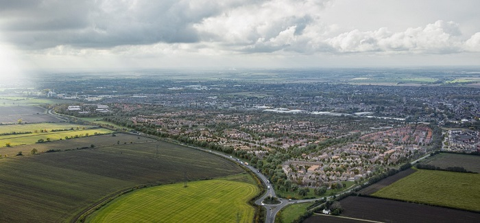 Aerial view of Wintringham St Neots