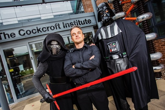 Carsten Welsch with Kylo Ren and Darth Vader