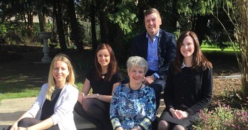 L-R:Lina Vainauskaite, Lucy Allinson, Caroline Choat, Robert Clarke and Jo Olivey