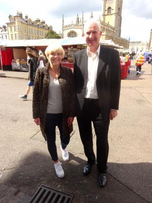 Fiona Coldron with Daniel Zeichner MP