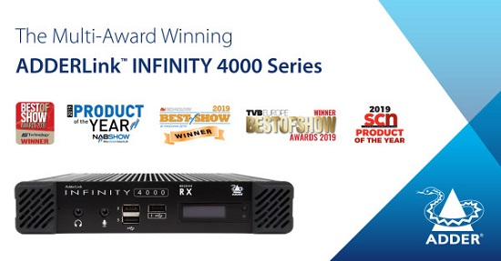 Adder's  multi-award-winning ADDERLink™ INFINITY 4000 Series - banner