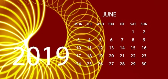 IJne 2019 calendar page/Image by Gerd Altmann from Pixabay