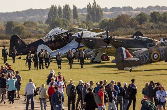 © IWM Visitors to the annual Duxford Battle of Britain Air Show enjoy up-close access to historic aircraft on the airfield. Visit IWM Duxford this summer!