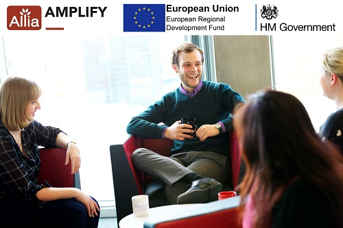 Allia Amplify programme image_ people sitting and talking