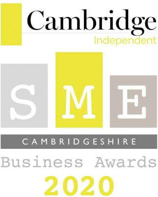 The logo for the 2020 Cambridge Independent SME Cambridgeshire Business Awards