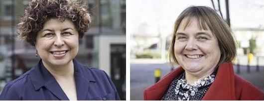 Dr Beatriz Acevedo (L)  and Siân Shaw