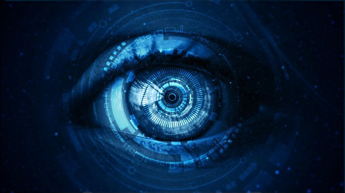 a camera lens as a human eye