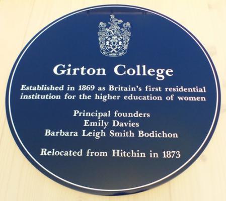 Girton College blue plaque