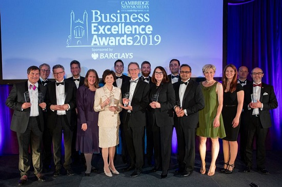 Cambridge News Business Excellence Awards 2019 at Kings College Cambridge. Winners. Picture: David Johnson Photographic