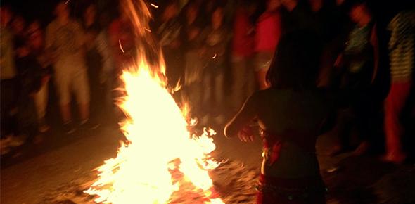 Dancing around a fire_ Image copyright: Safet Hadzimuhamedovic, 2012