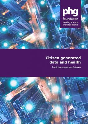 report cover -Citizen generated data and health: predictive prevention of disease