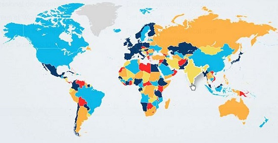 Chaos Map shows the devastating effects of food, water and fuel insecurity © Anglia Ruskin University