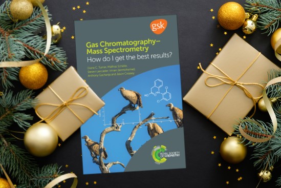 Gas Chromatography-Mass Spectrometry: How Do I Get the Best Results?  book surrounded by Christmas decorations