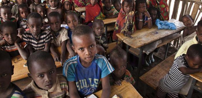A classroom in Ethiopia  Credit: UNICEF
