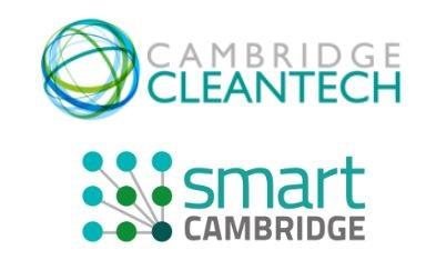 Cambridge Cleantech and Smart Cambridge logos
