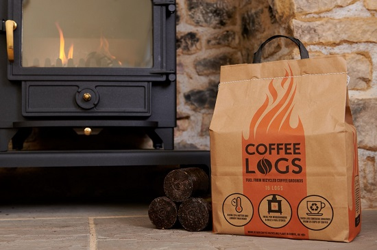 bio-bean coffee logs comne from coffee waste