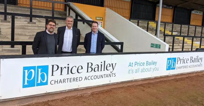 Price Bailery sponsors CUFC