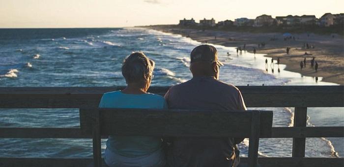 Elderly couple  Credit: James Hose Jr