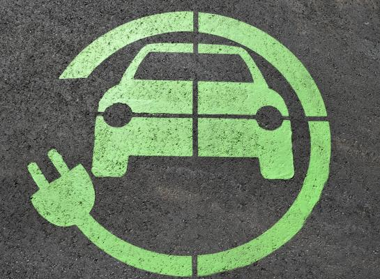 electric charge for cars - symbol