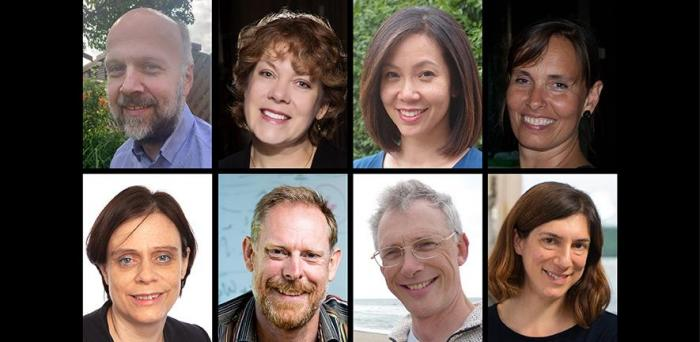 The eight Cambridge researchers elected as members of the European Molecular Biology Organisation