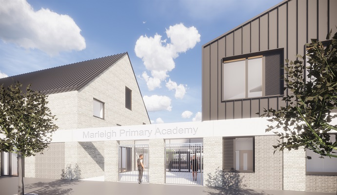 artist's impression of new school entrance