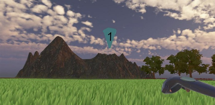 Example environment from the virtual reality display  Credit: University of Cambridge