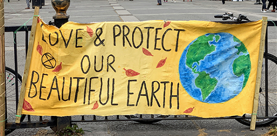 Love and protect our beautiful earth banner