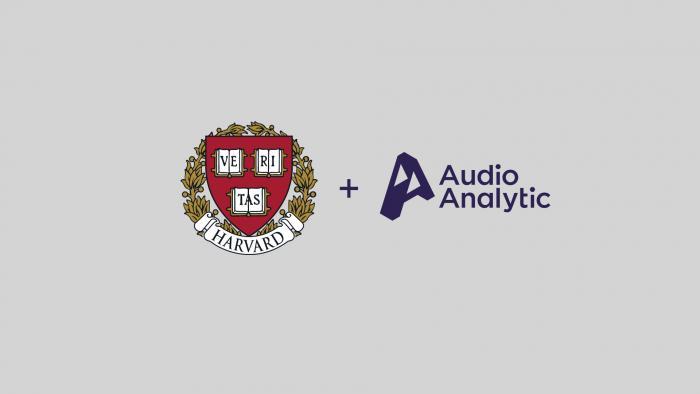 Harvard and Audio Analytic logos
