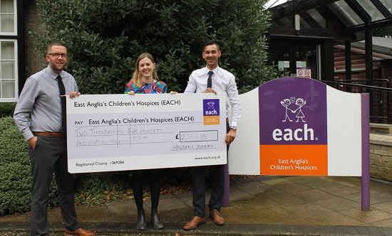 Howdens Joinery has donated  £3,036.55 to EACH