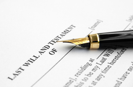 pen on a Will document