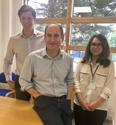 Ben Eliott (centre), CEO and founder of Legalesign, and staff Nick Morris and Andreea Dumitrescu