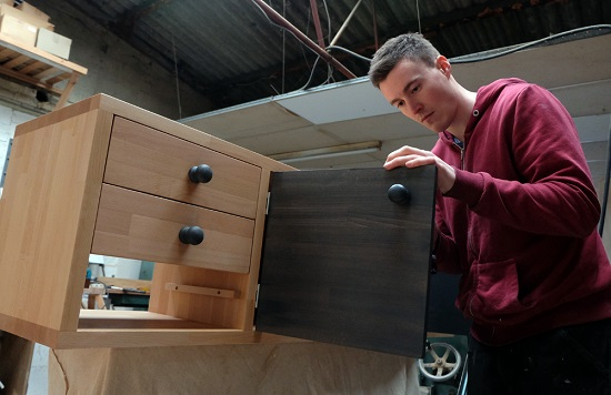 Linford Joinery_James in the workshop