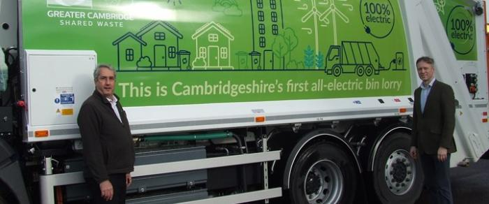 LocalCouncils covering the area take delivery of their very first all-electric bin lorry.