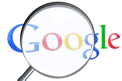 Google logo through a magnifying glass - image by Simon from Pixabay