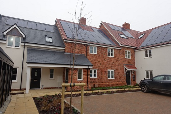 Some of the new energy-efficient Council homes in Balsham