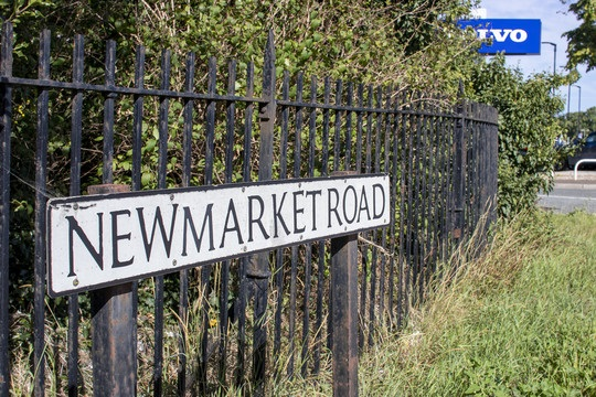 Newmarket Road street sign