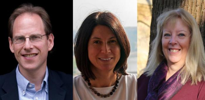 L_R: Professor Simon Baron-Cohen, Professor Usha Goswami,Professor Val Gibson