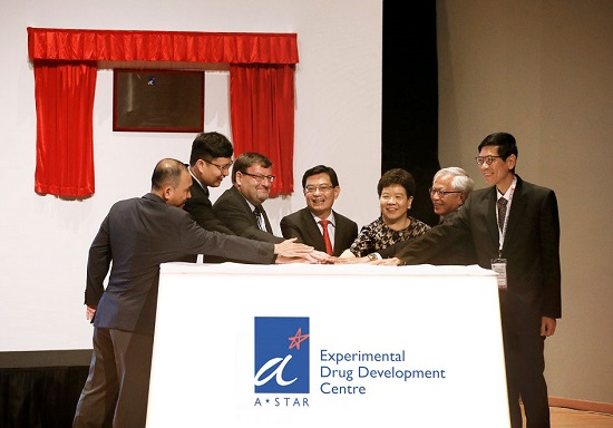The opening ceremony of the Experimental Drug Development Centre in Biopolis . Credit - A*STAR.