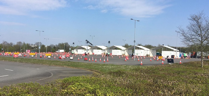 A drive-in coronavirus testing centre is to open at London Stansted Airport
