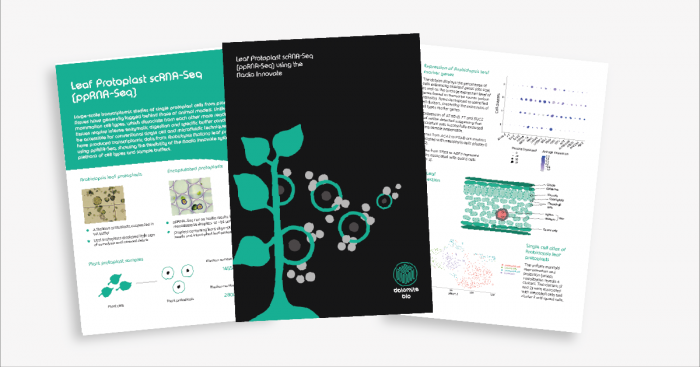 a new application note demonstrates single cell RNA Sequencing of plant leaf protoplasts on the Nadia Innovate.