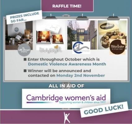 Kameo Recruitment raffle for Cambridge Women's Aid_banner