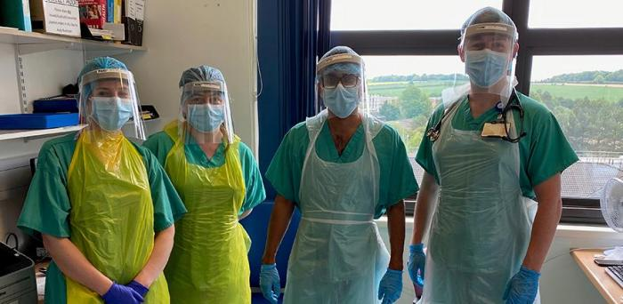 Ravi Gupta and colleagues in PPE