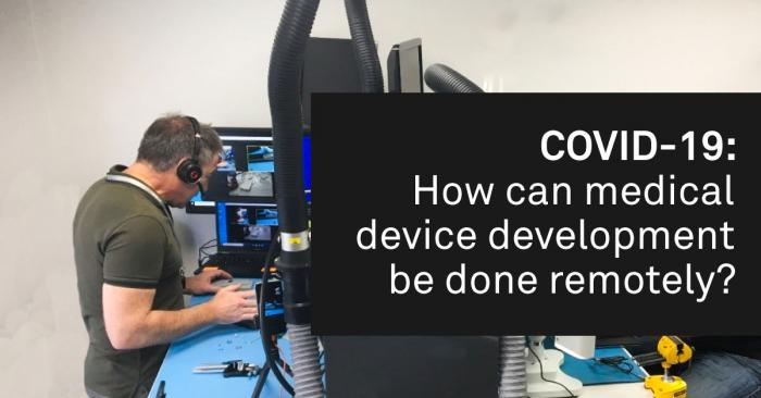 How can medical device development be done remnotely? banner