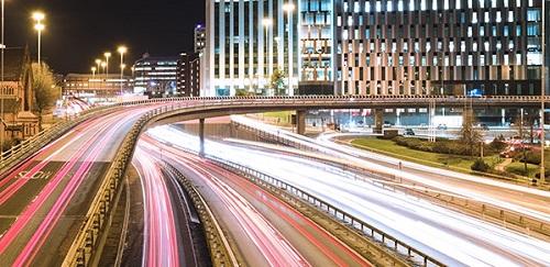 A long-exposure shot of traffic on the motorway.  Credit: Euan Cameron on Unsplash