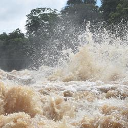 The Khone waterfall, Mekong River  Credit: E. Tipper